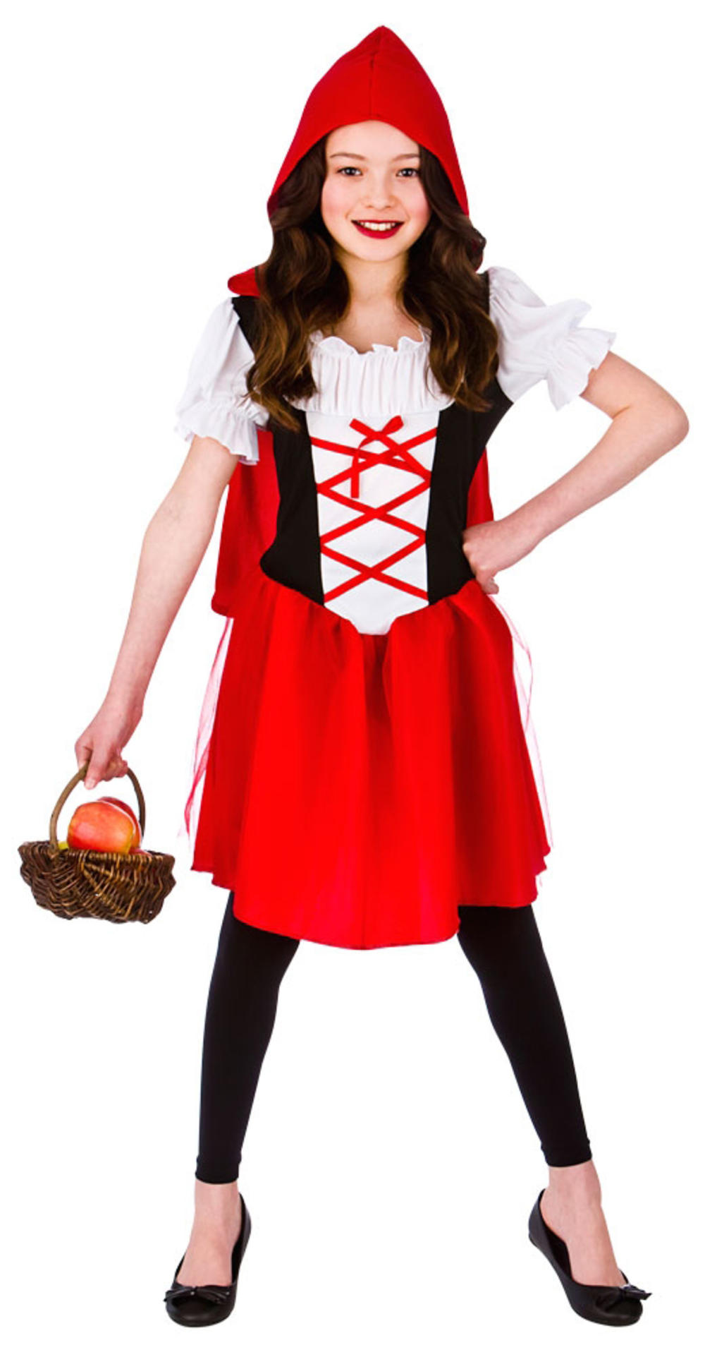 Little Red Riding Hood Girls Fancy Dress Fairy Tale Kids Book Day Week Costume