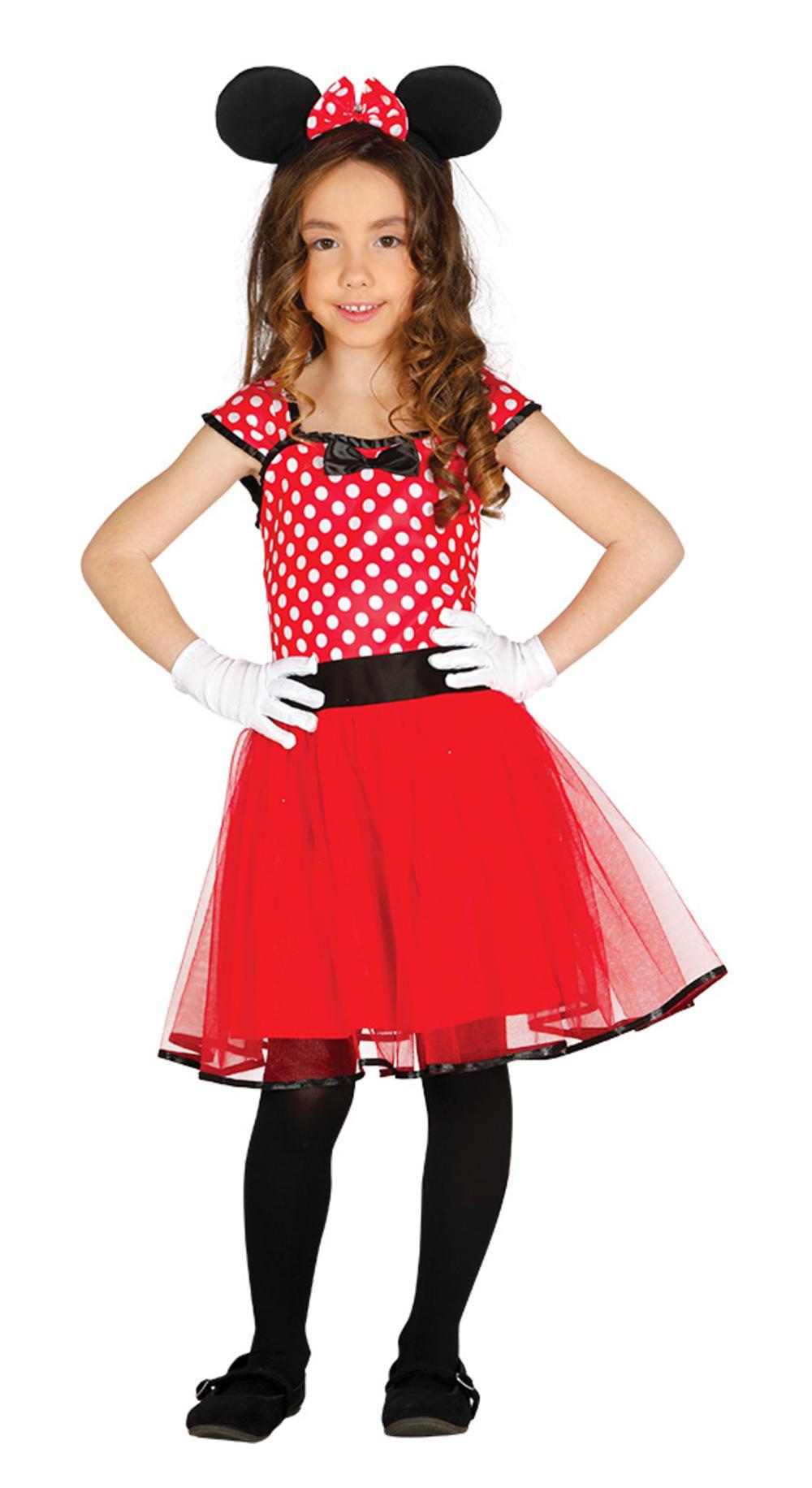 Little Mouse Girls Fancy Dress Cartoon Animal Kids Childrens Costume + Ears