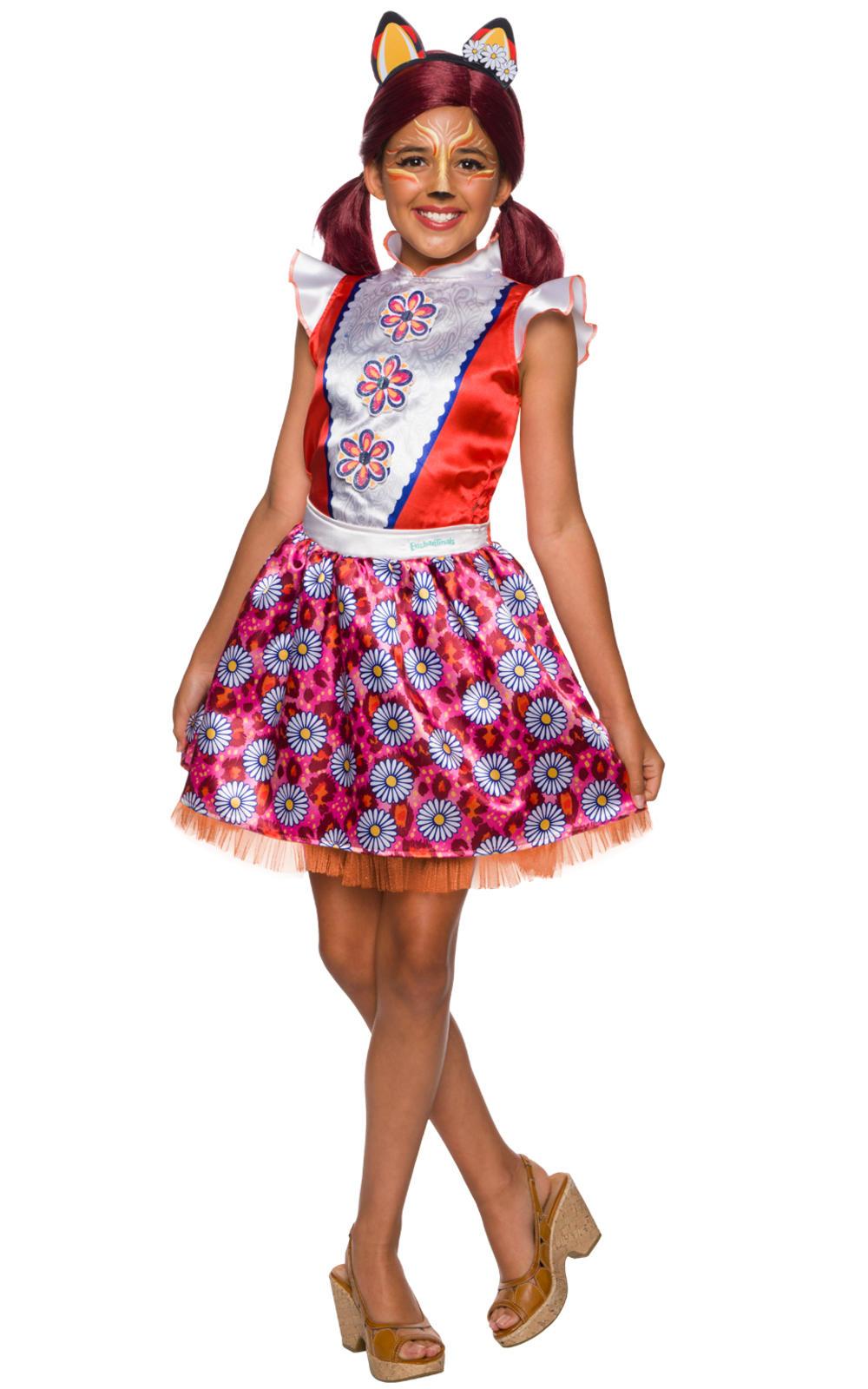 Felicity Fox Girls Fancy Dress Enchantimals Fairy Tale Animal Kids Costume New