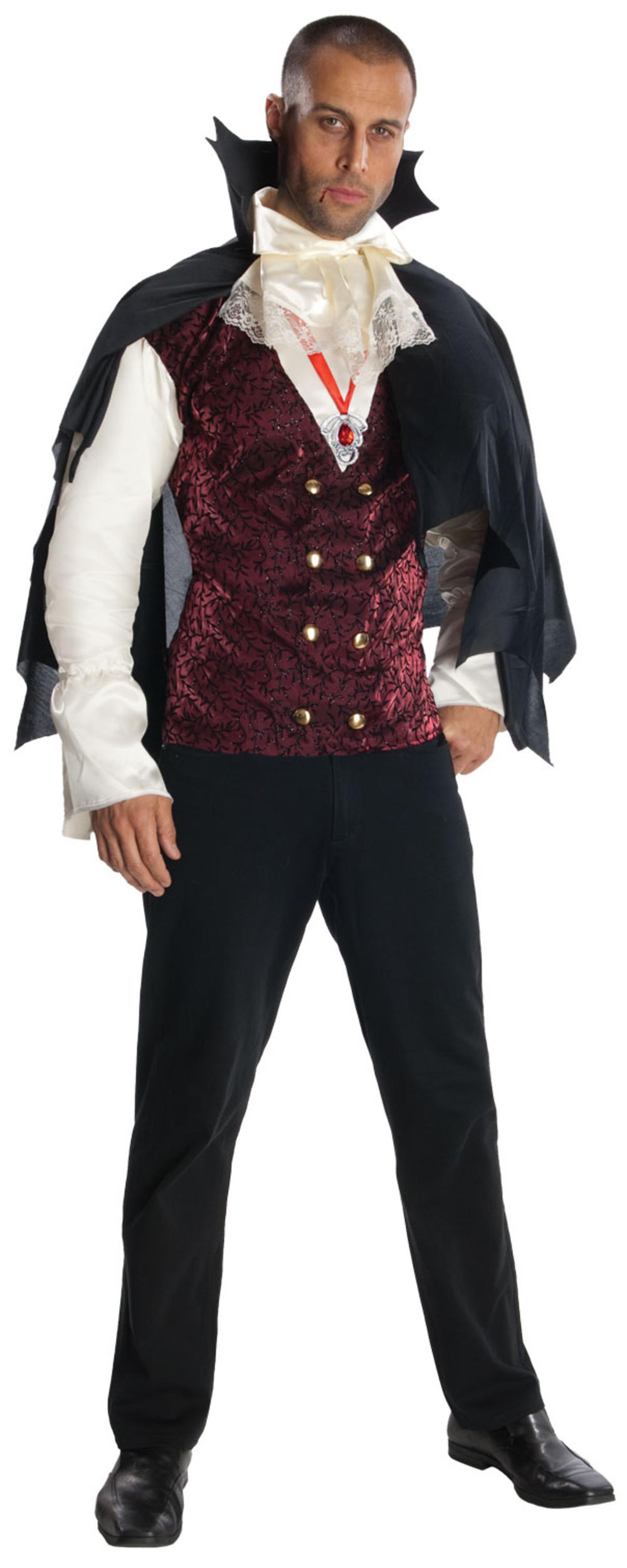 Vampire Mens Halloween Fancy Dress Count Dracula Gothic Adult Costume Outfit New