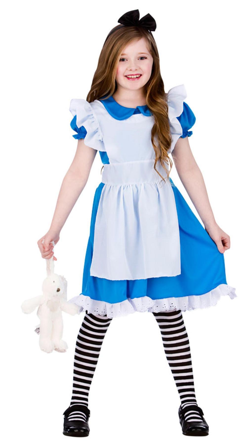 Storybook Alice Girls Fancy Dress Fairytale World Book Day Kids Children Costume