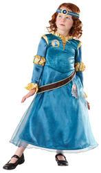 Deluxe Merida Girls Fancy Dress Disney Princess Brave Book Day Childrens Costume