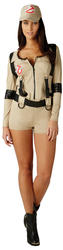 Sexy Ghostbusters Ladies Fancy Dress Halloween 1980s Womens Adult Shorts Costume