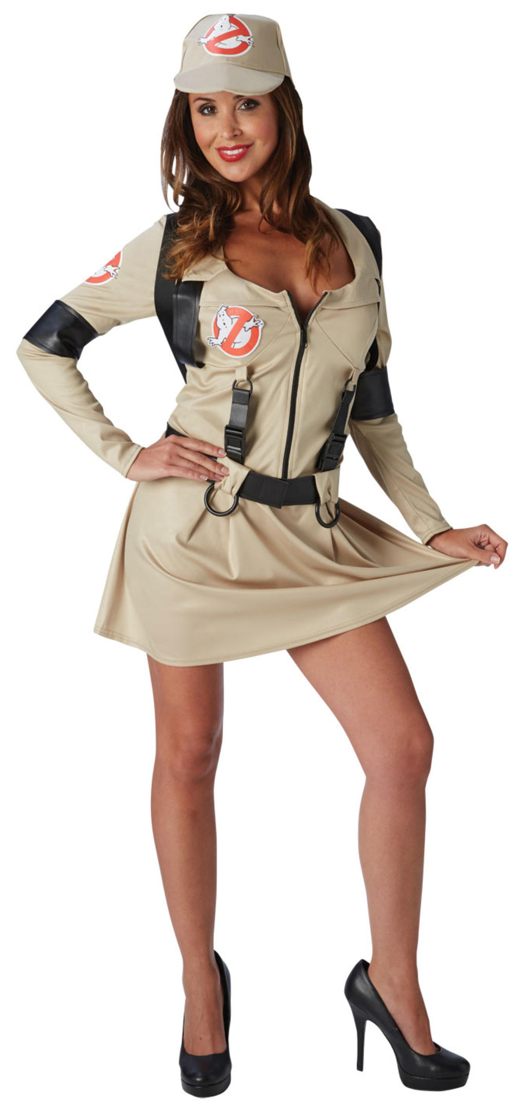 Ghostbusters Ladies Fancy Dress Halloween 1980s Womens Adult 80s Costume Outfit