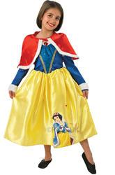 Snow White Winter Wonderland Girls Disney Fancy Dress Costume + Cape Ages 3-8 Yr