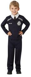 Police Officer Kids Fancy Dress Cop PC Occupation Uniform Boys Girls Costume New