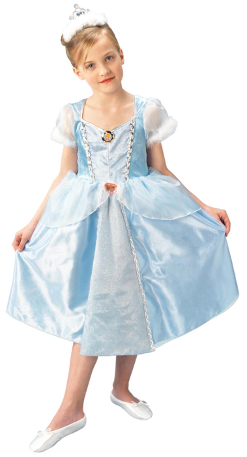 Deluxe Cinderella Girls Fancy Dress Disney Princess Kids Fairy Tale Book Costume
