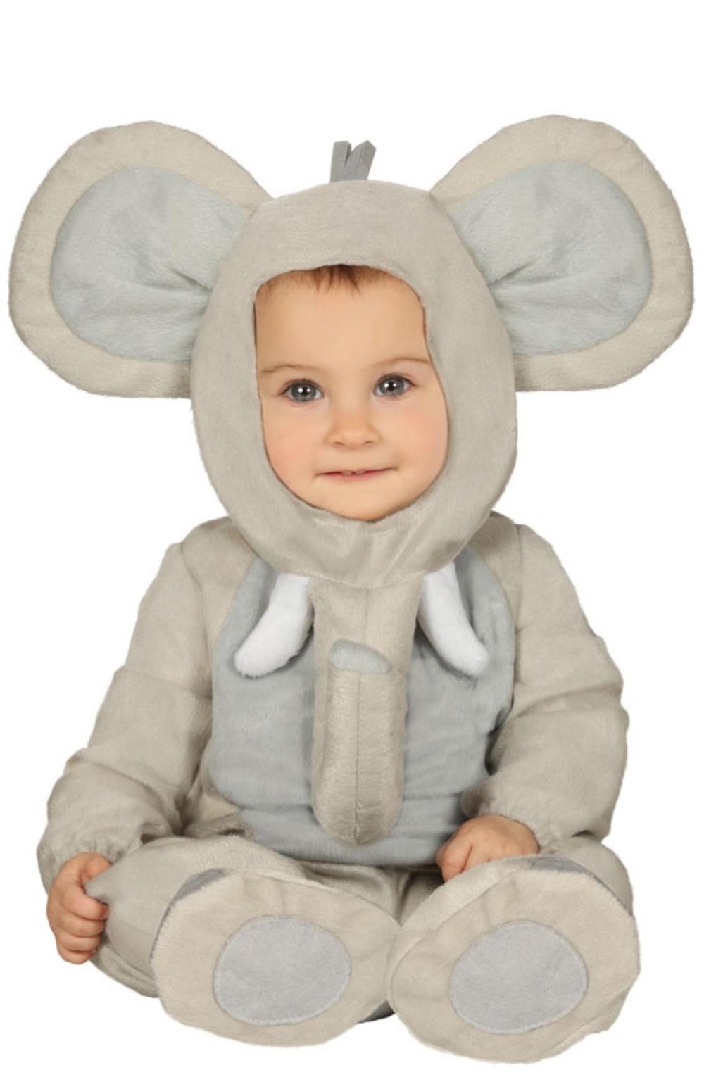 Baby Elephant Kids Costume Storybook Zoo Animal Cute Boys Girls Toddlers Costume
