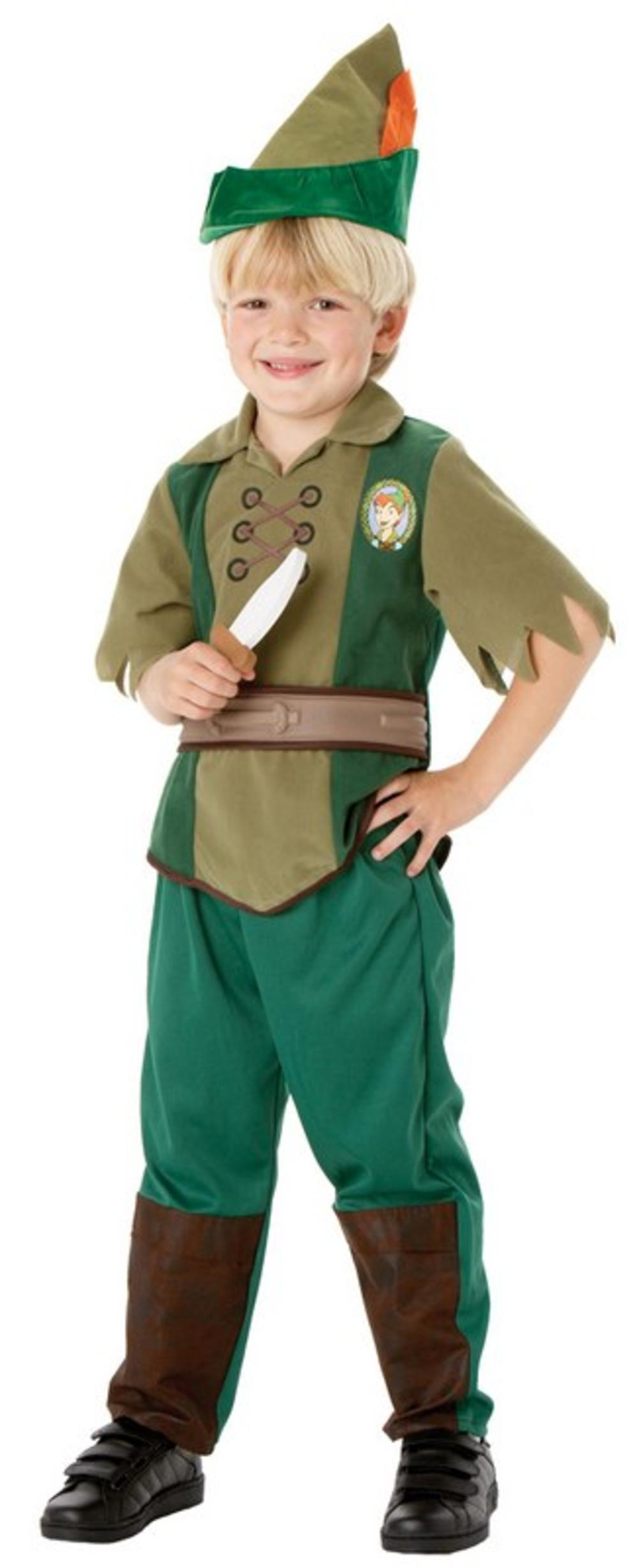 Peter Pan Boys Fancy Dress World Book Day Dress Up Disney Costume Kids Ages 3-8