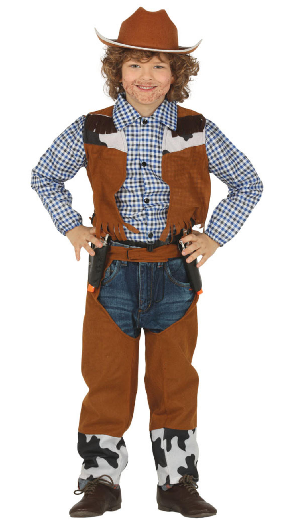 Cowboy Kids Fancy Dress Wild Western Cowgirl Boys Girls World Book Day Costume