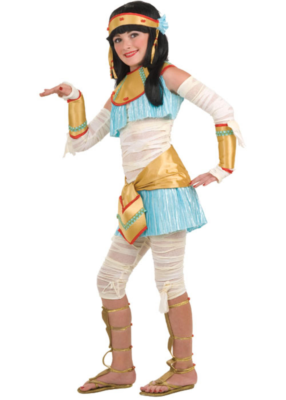 Egyptian Girls Fancy Dress Book Week Kids Childrens Cleopatra Costume Outfit New