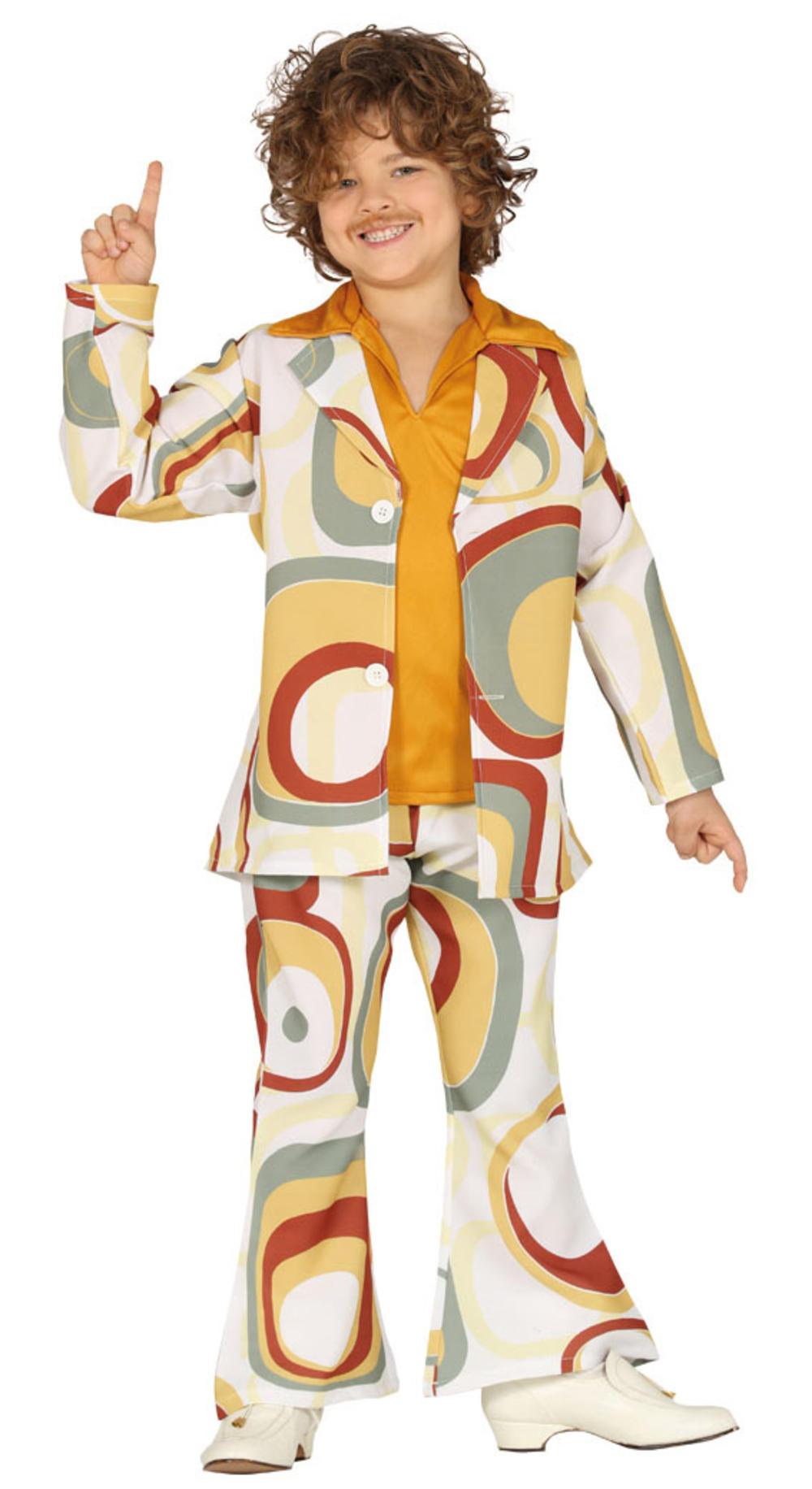 Groovy 70s Boy Kids Fancy Dress Funky Retro Disco 1970s Kids Boys Costume Outfit