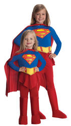 Supergirl Kids Fancy Dress Girl's Superhero Movie Costume Outfit Ages 1-10 Years