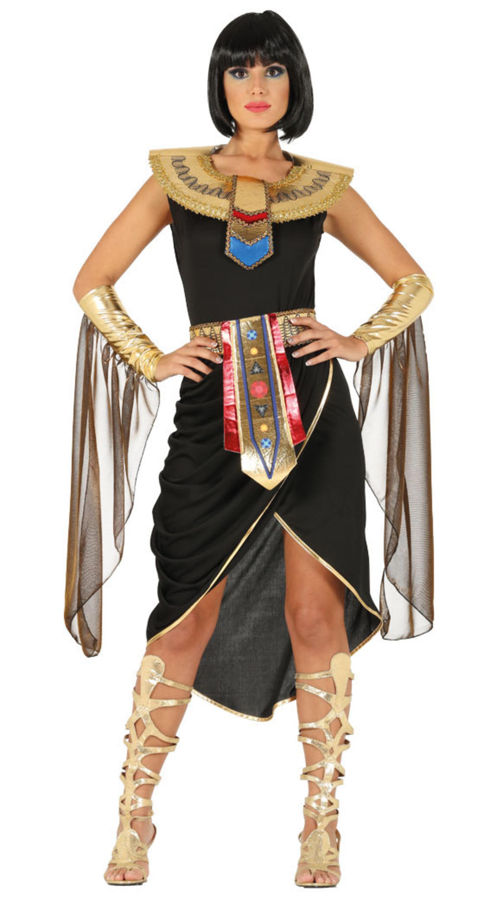 Egyptian Queen Ladies Fancy Dress Cleopatra Goddess Adults Historical Costume