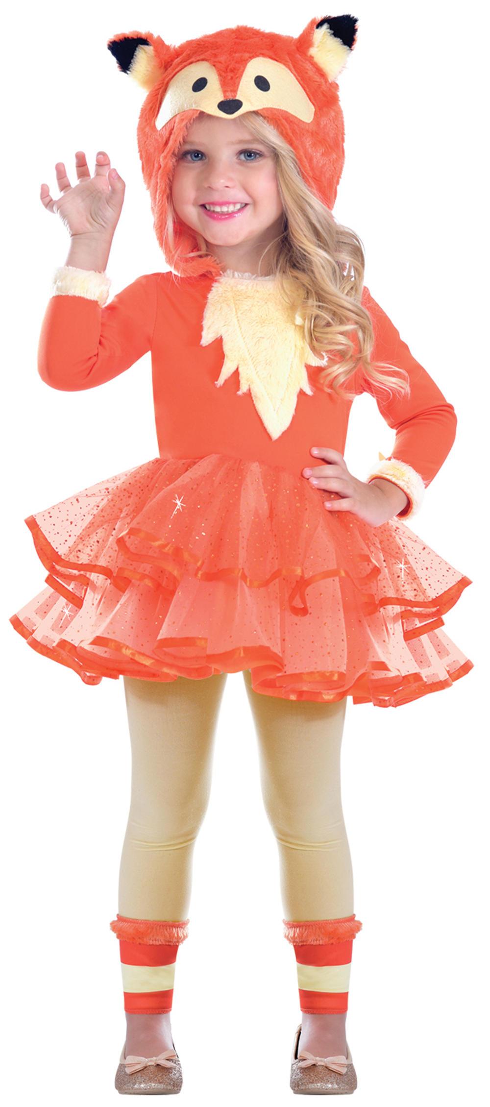 Fox Girls Fancy Dress Animal World Book Day Character Childrens Kids Costume New