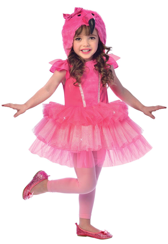 Flamingo Girls Fancy Dress Bird Animal World Book Day Childs Kids Costume Outfit