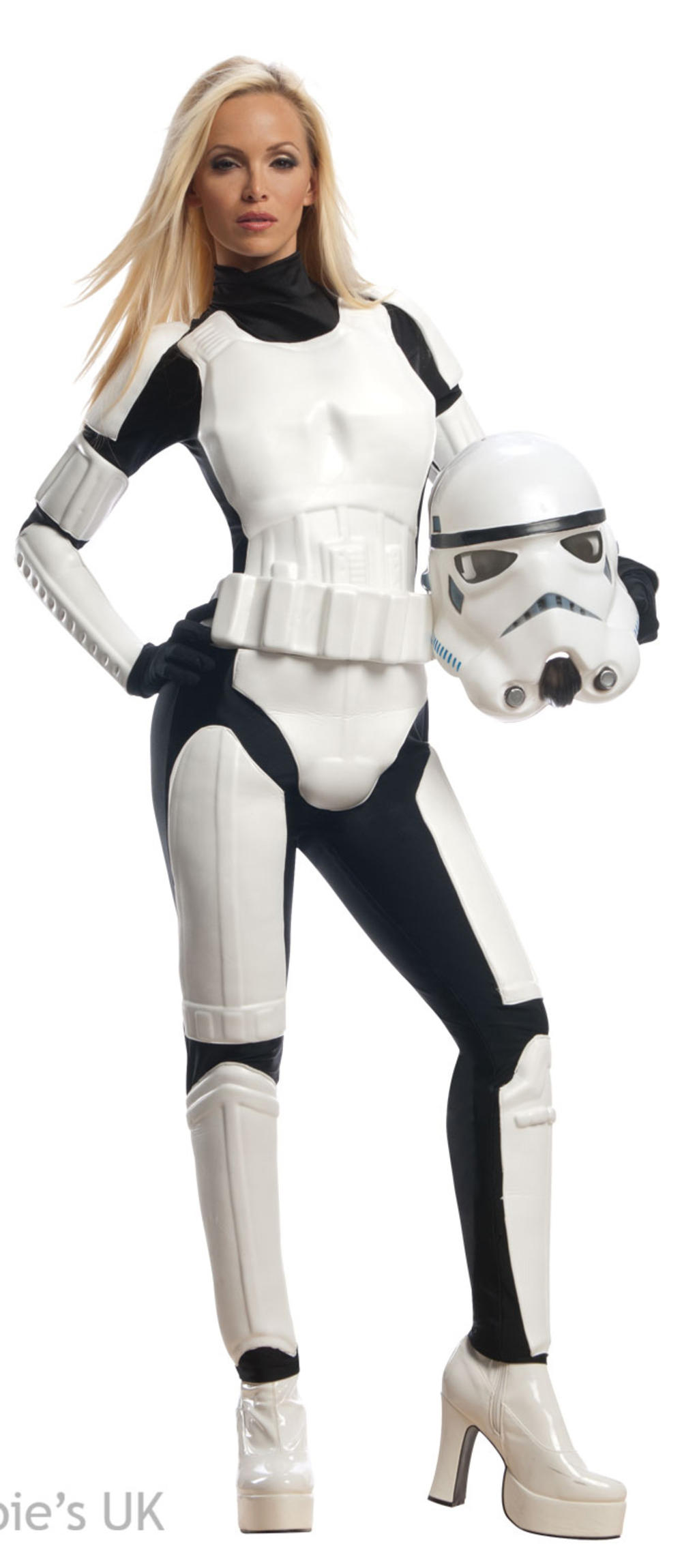 Stormtrooper Ladies Fancy Dress Star Wars Movie Villain Womens Adults Costume
