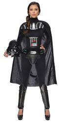 Darth Vader Ladies Fancy Dress Star Wars Movie Villain Womens Adults Costume