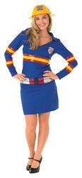 Firegirl Ladies Fancy Dress Fire Fighter Uniform Occupation Hen Womens Costume