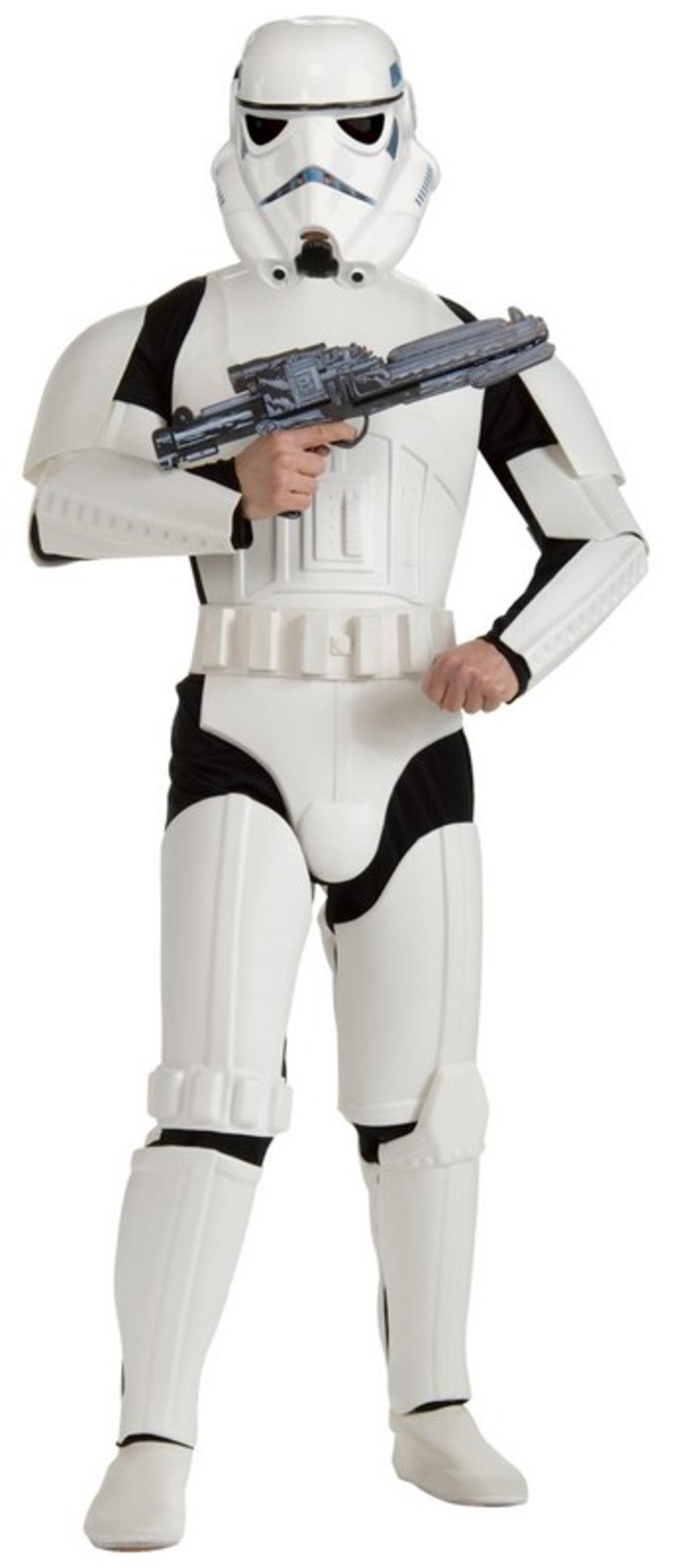 Deluxe Stormtrooper Star Wars Mens Fancy Dress Storm Trooper Adult Costume - New