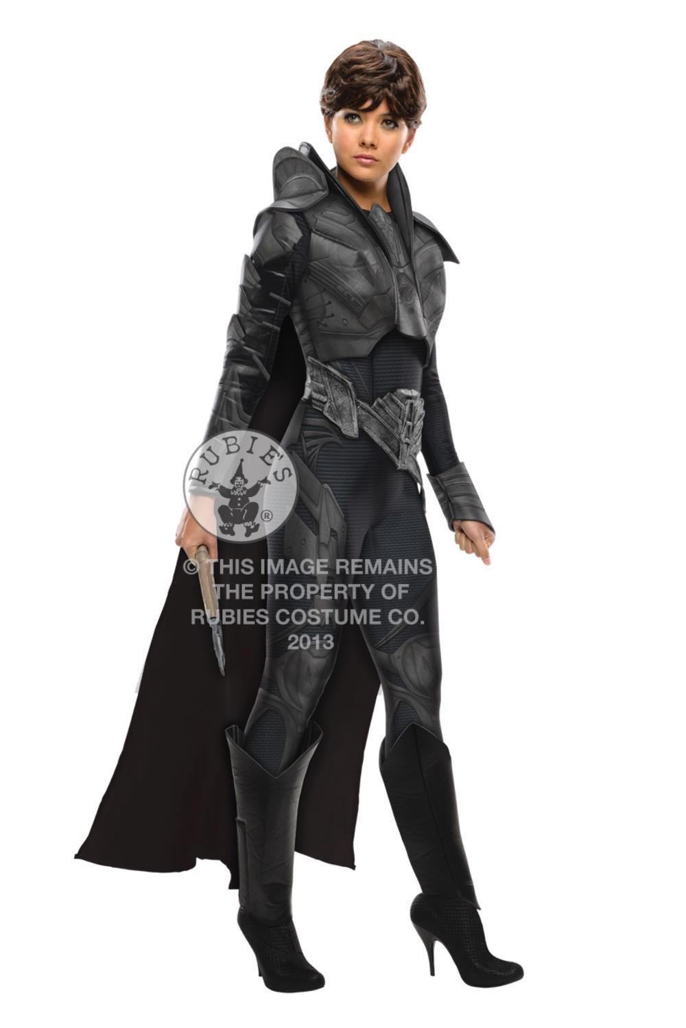 Faora Ladies Fancy Dress Superman Man of Steel Villian Adults Halloween Costume