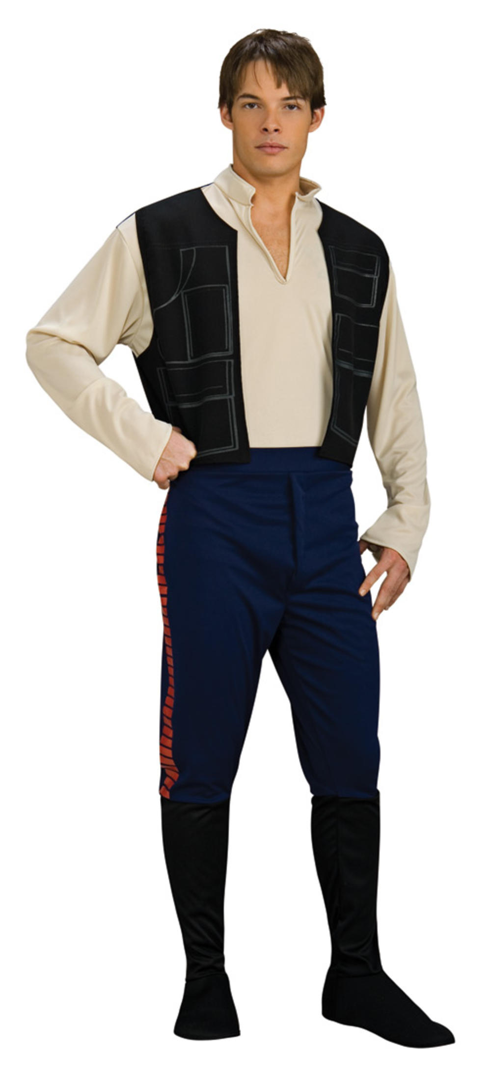 Hans Solo Mens Fancy Dress Star Wars Movie Film Character Adults Costume Outfit
