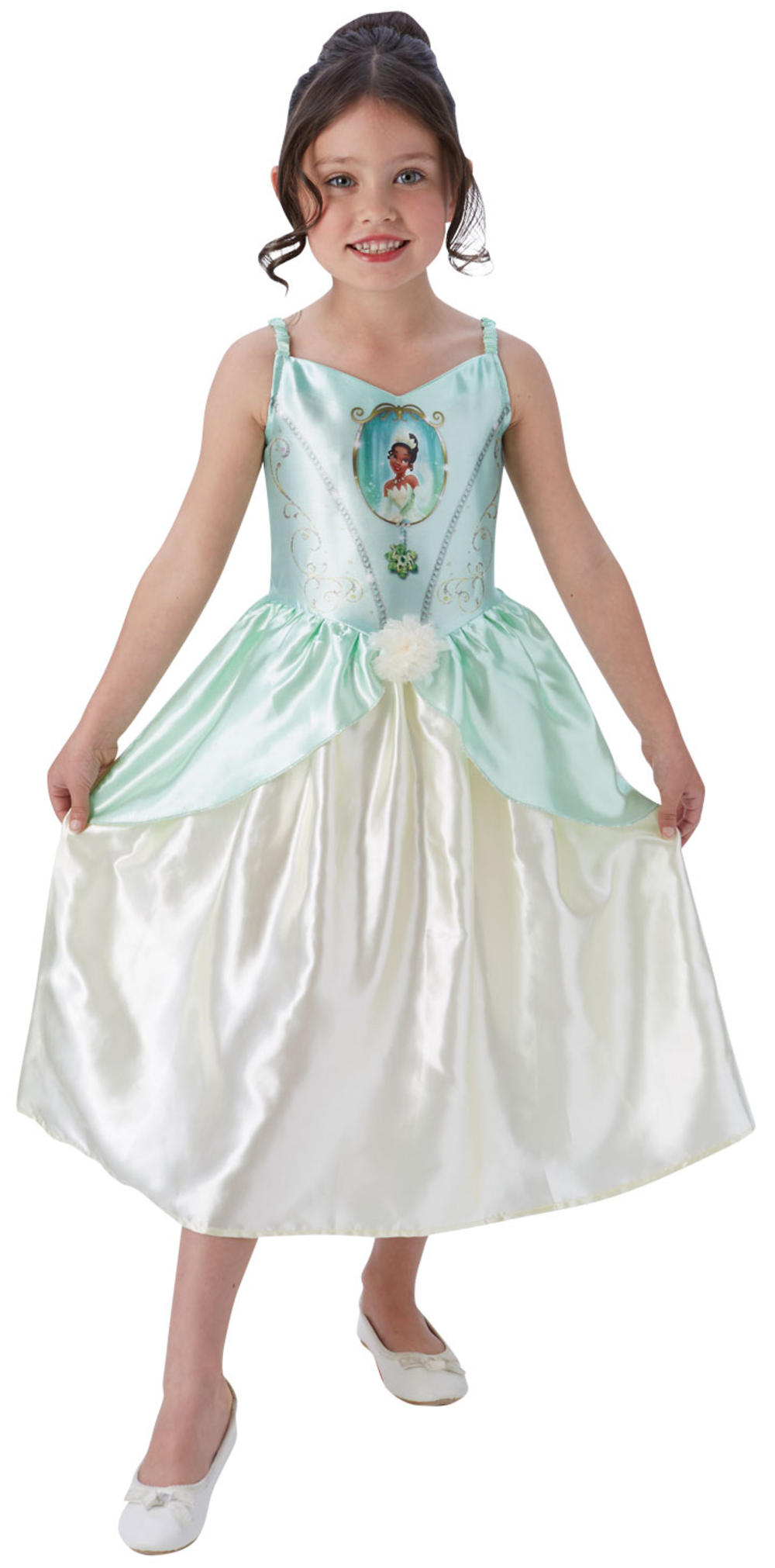 Fairy Tale Tiana Girls Fancy Dress Disney Princess Frog Kids Book Day Costume