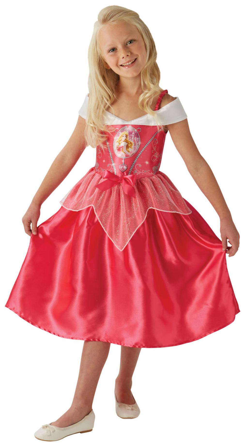 Sleeping Beauty Girls Fancy Dress Disney Princess Aurora Kids Childrens Costume