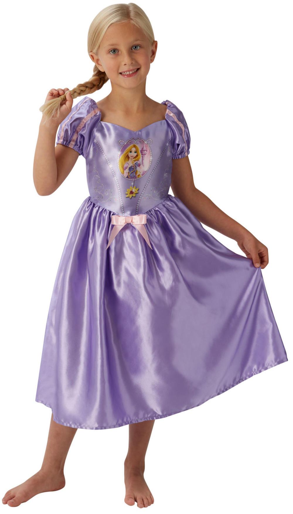 Rapunzel Girls Fancy Dress Disney Princess Tangled Book Childrens Kids Costume