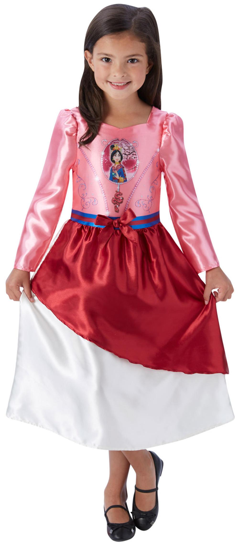 Mulan Girls Fancy Dress Disney Princess Fairytale Book Kids Childrens Costume