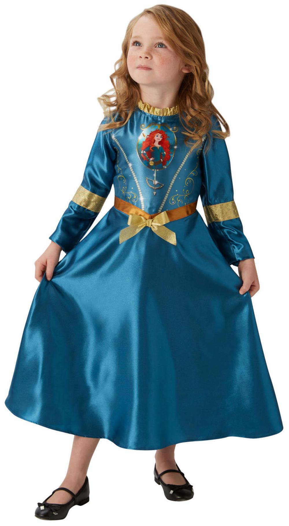 Merida Girls Fancy Dress Disney Princess Brave Fairytale Book Childrens Costume