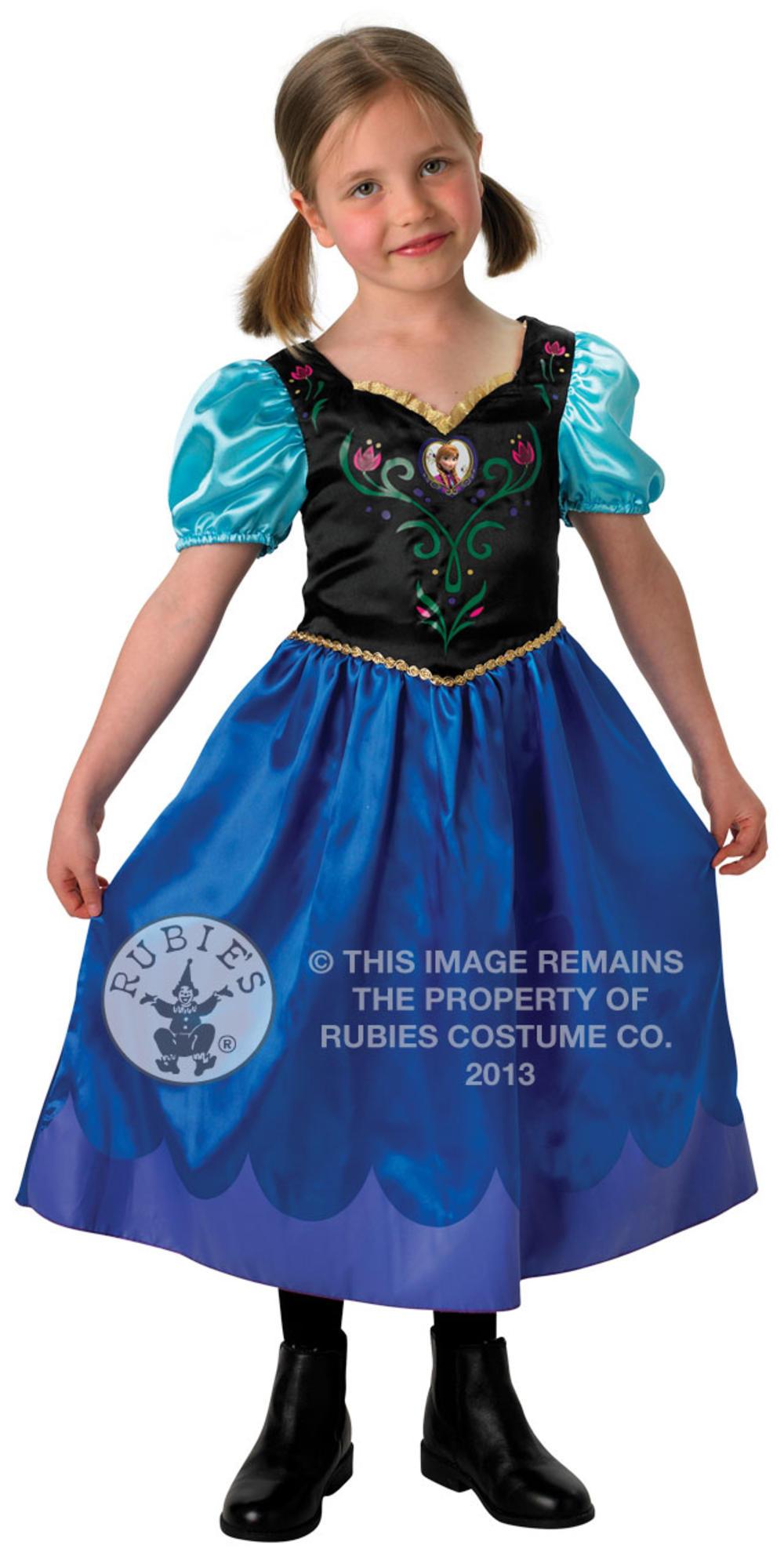 Classic Princess Anna Girls Fancy Dress Disney Frozen Kids Fairy Tale Costume