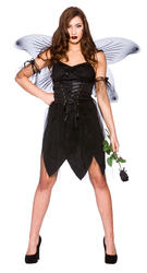Fallen Angel Bad Dark Fairy Ladies Fancy Dress Halloween Womens Adult Costume