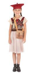 Wartime School Girl Kids Fancy Dress 1940s 40s WW2 Girls World Book Day Costume