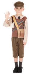 Wartime School Boy Kids Fancy Dress 1940s WW2 Boys World Book Day Costume Outfit