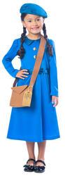 Wartime Girls Fancy Dress History 30s 40s Book Day Week Childrens Kids Costume