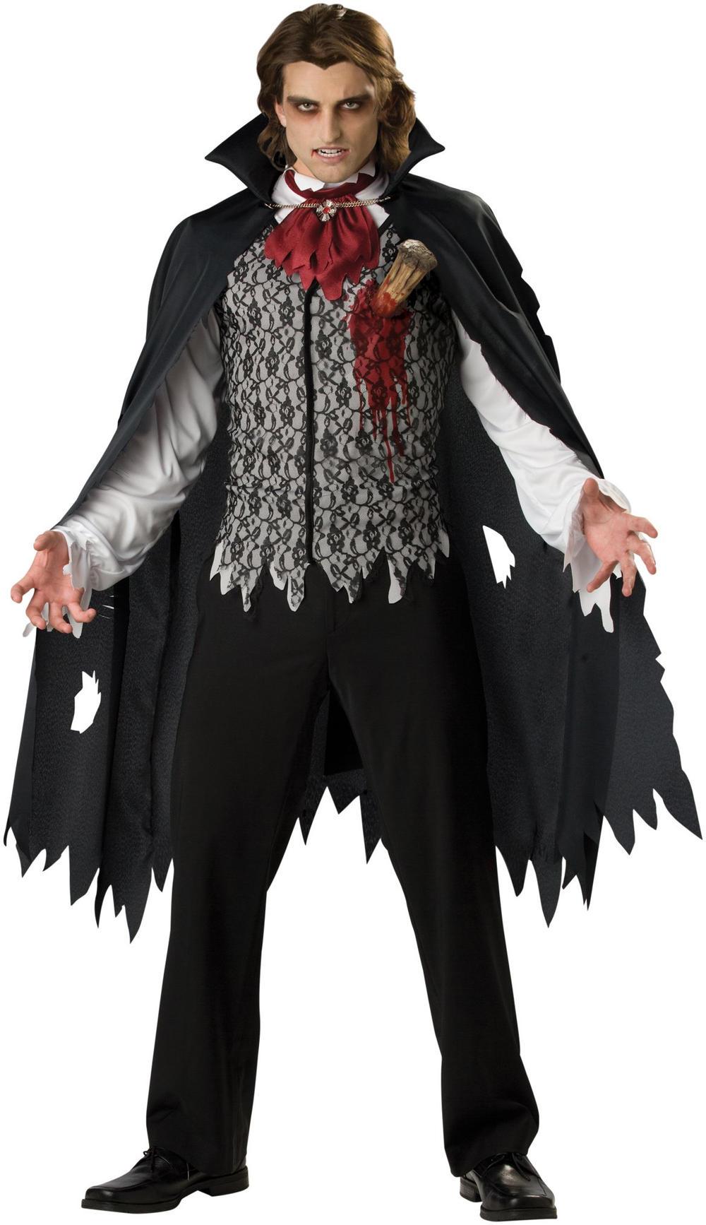 Slayed Vampire Mens Halloween Fancy Dress Count Dracula Adult Horror Costume New