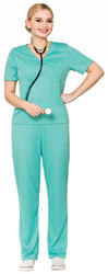 E.R Surgeon Ladies Fancy Dress Doctor Hospital Uniform Adults Womens Costume New