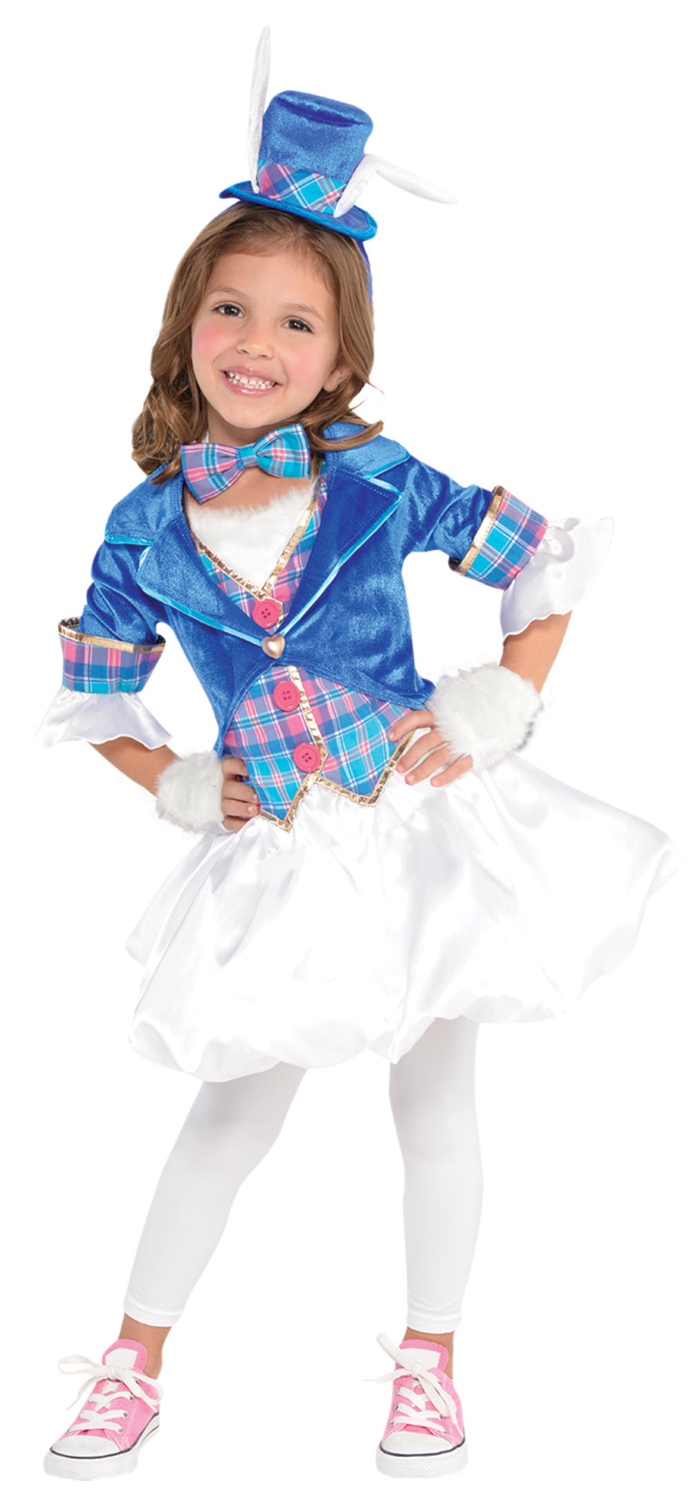 White Rabbit Girls Fancy Dress Wonderland World Book Day Animal Kids Costume New