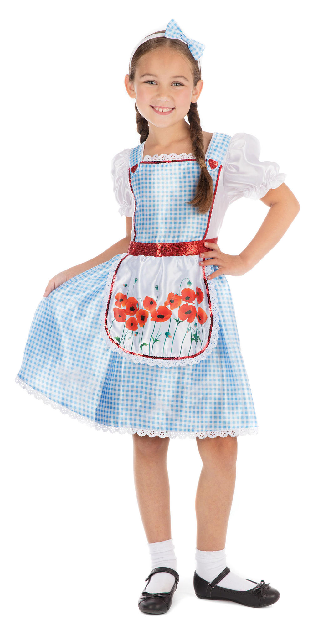 Dorothy Girls Fancy Dress Fairy Tale Kids World Book Day Costume Childs Outfit