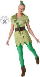 Peter Pan Ladies Disney Fancy Dress Fairytale Pixie Womens Adults Book Costume