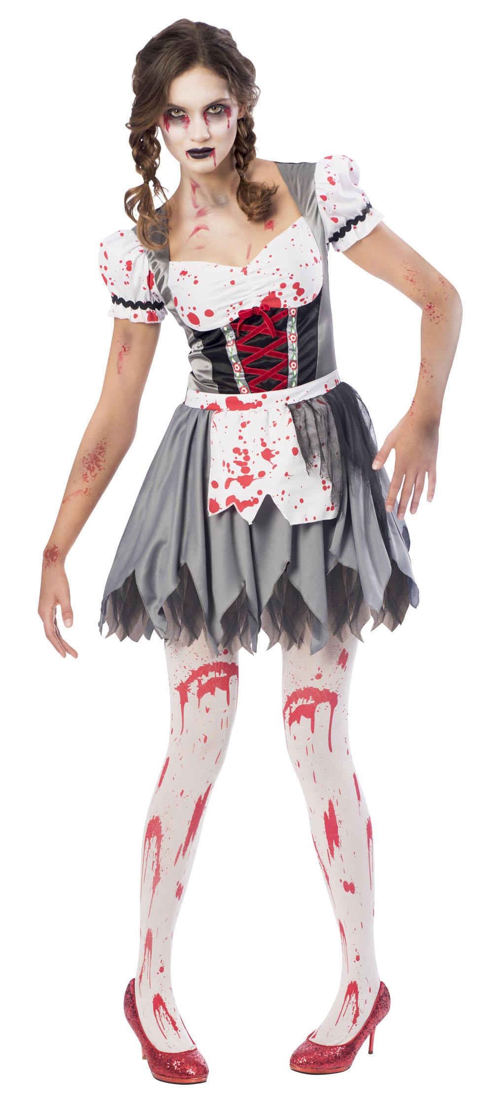Zombie Oktoberfest Ladies Halloween Fancy Dress German Bavarian Womens Costume