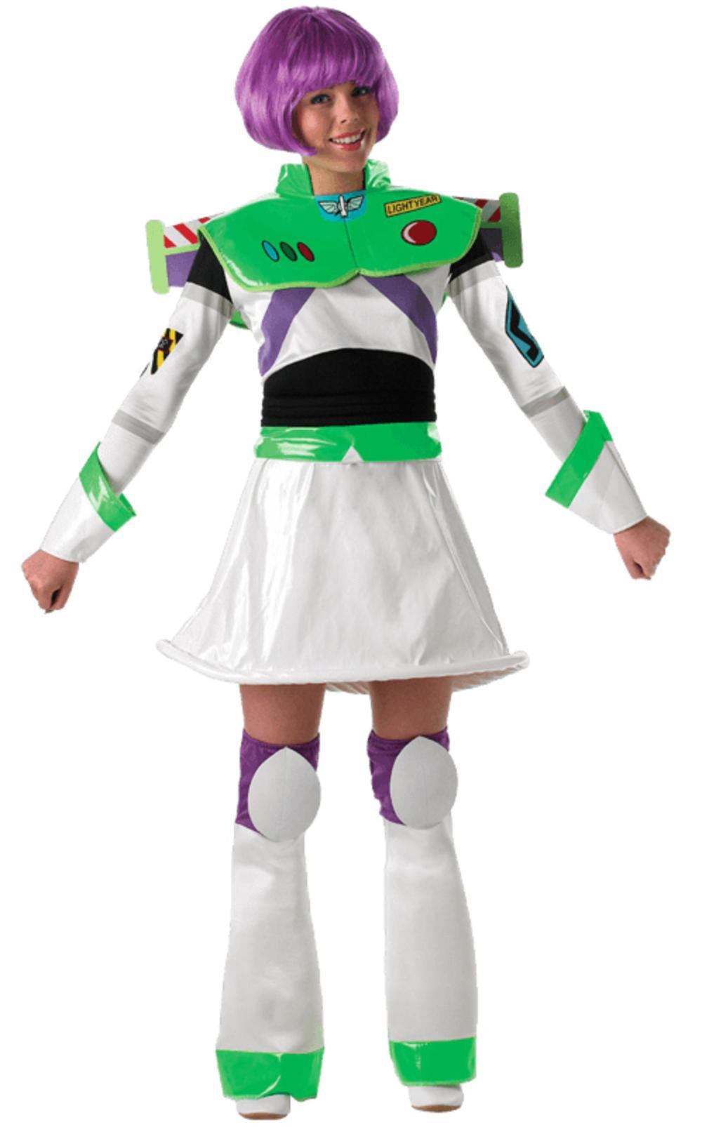 Buzz Lightyear + Wings Ladies Disney Fancy Dress Toy Story Womens Costume Outfit