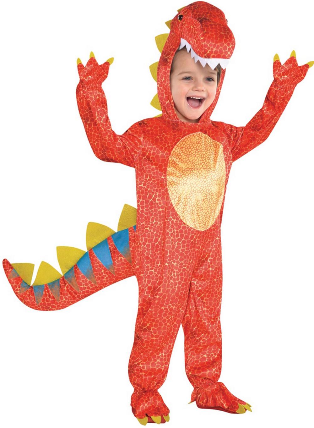 Dinosaur Jumpsuit Kids Fancy Dress Jurassic Animal Book Week Childrens Costume