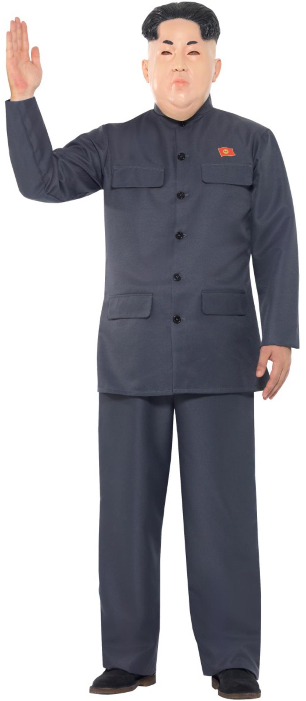 Kim Jong Un Mens Fancy Dress North Korean President Dictator Adults Costume New