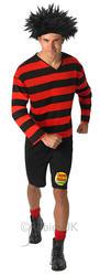 Dennis the Menace Adults Fancy Dress Book Week TV Cartoon Mens Costume Character