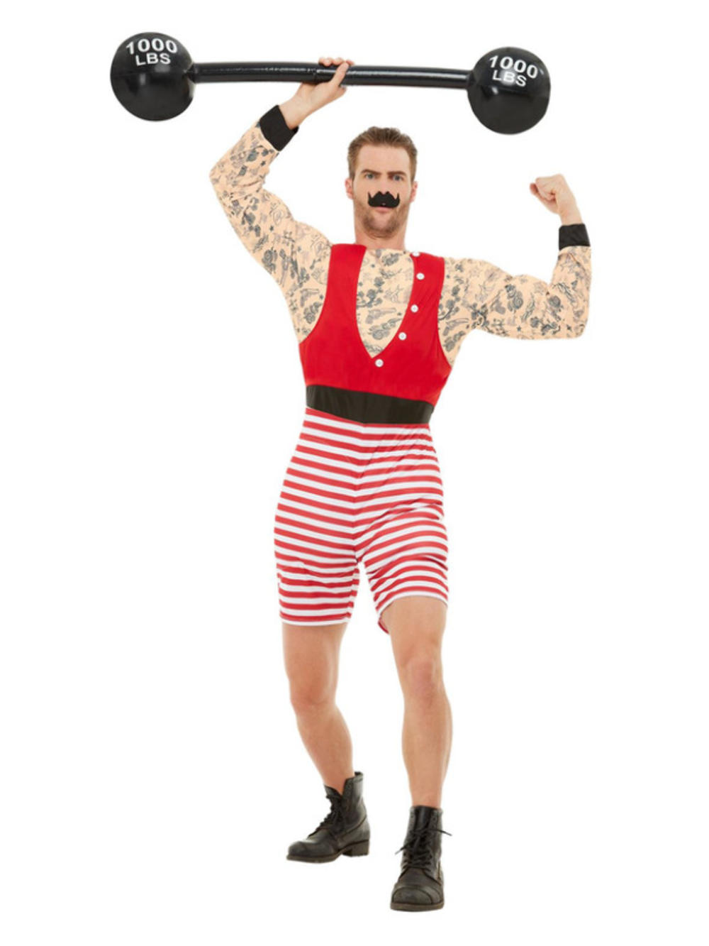 Deluxe Strongman Mens Fancy Dress Greatest Showman Circus Act Adults Costume New