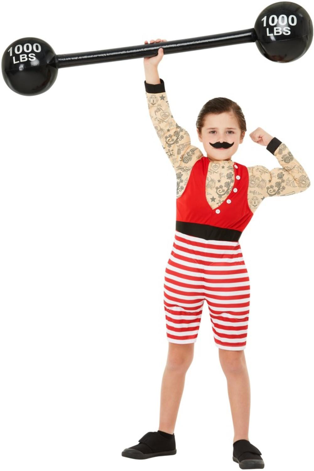Deluxe Strong Boy Kids Fancy Dress Body Builder Boys Circus Costume Child Outfit