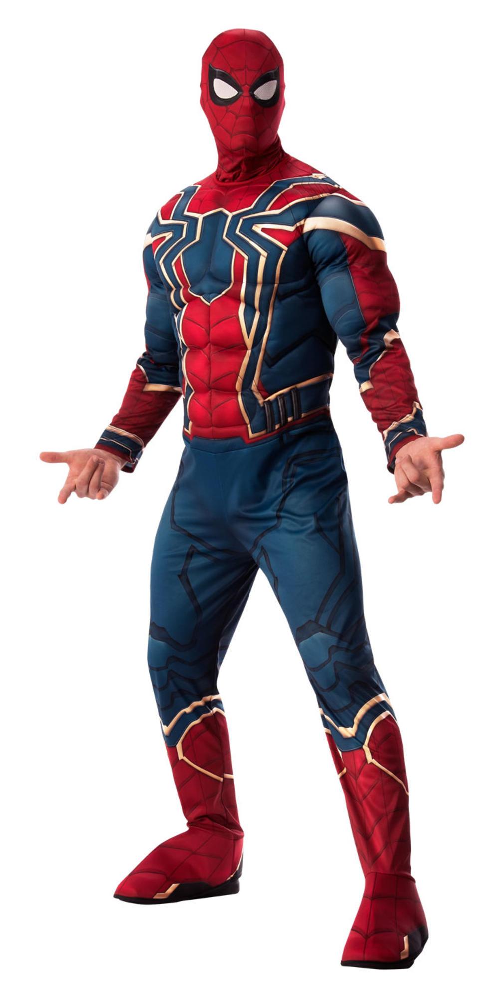 Spider-Man Mens Fancy Dress Avengers Infinity War Superhero Adults Costume New
