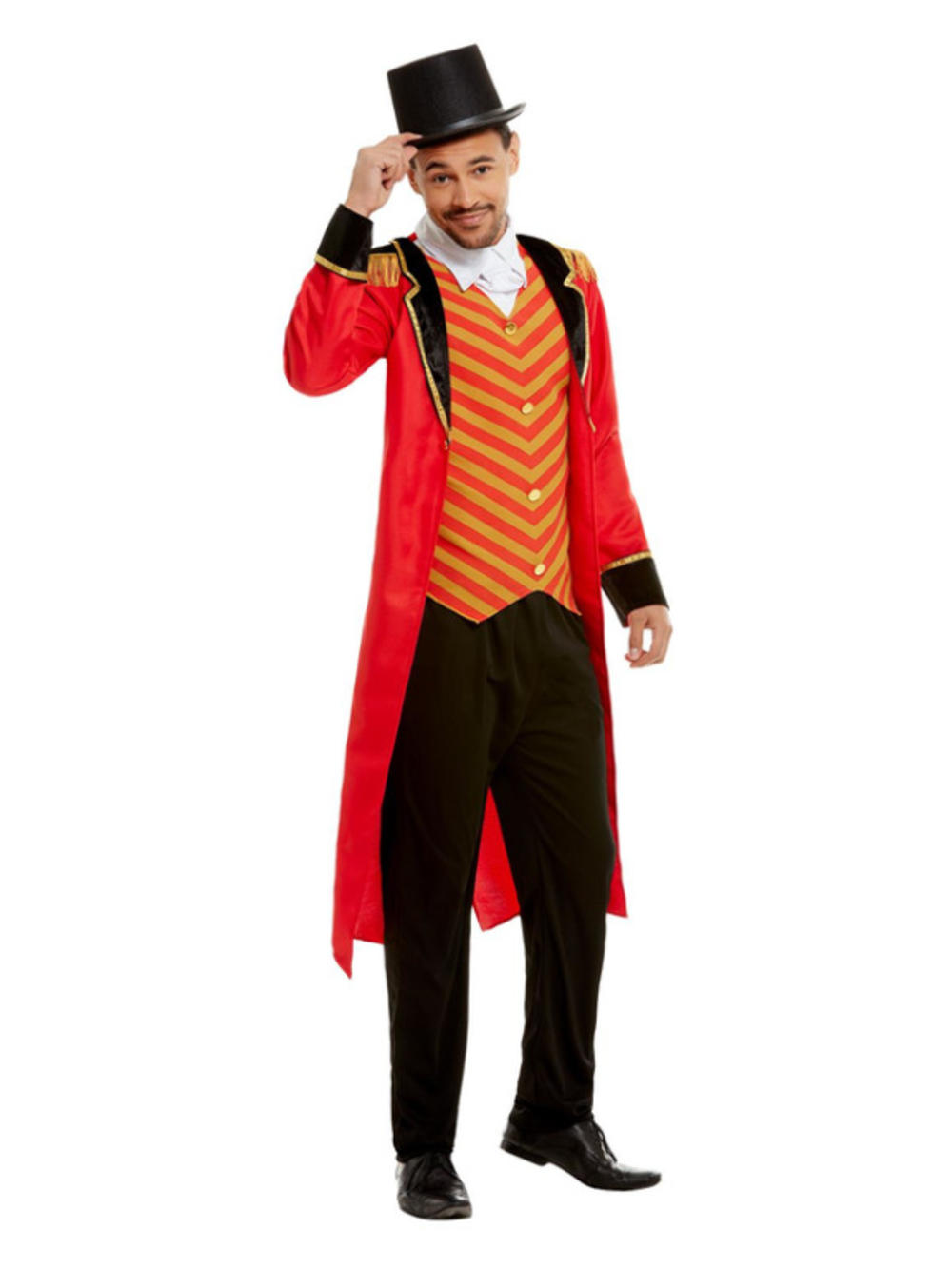 Deluxe Ringmaster Mens Fancy Dress Great Circus Showman Lion Tamer Adult Costume
